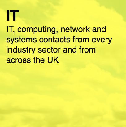 Over 13,500 UK IT Contacts - Email and Business data