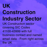 Construction Industry Sector - Email and Business data