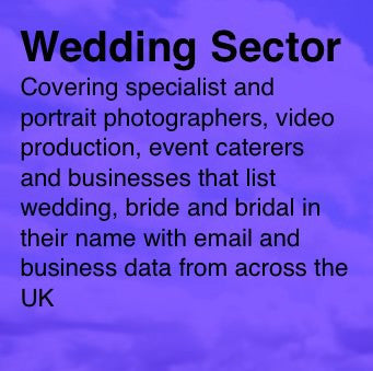 Wedding, bridal and related industries - Email and Business data