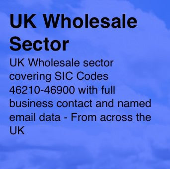 Wholesale Sector SIC codes 46210-46900 - Email and Business data