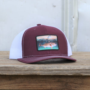 Maroon/White Red Drum Snap Back