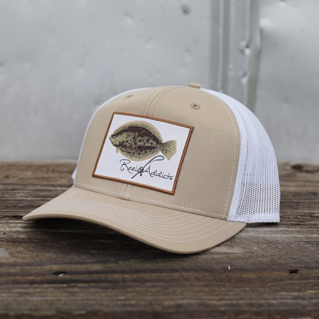 Khaki/White Flounder Snap Back