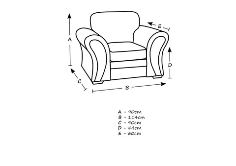 Scarlet 1 Seater Chair Size