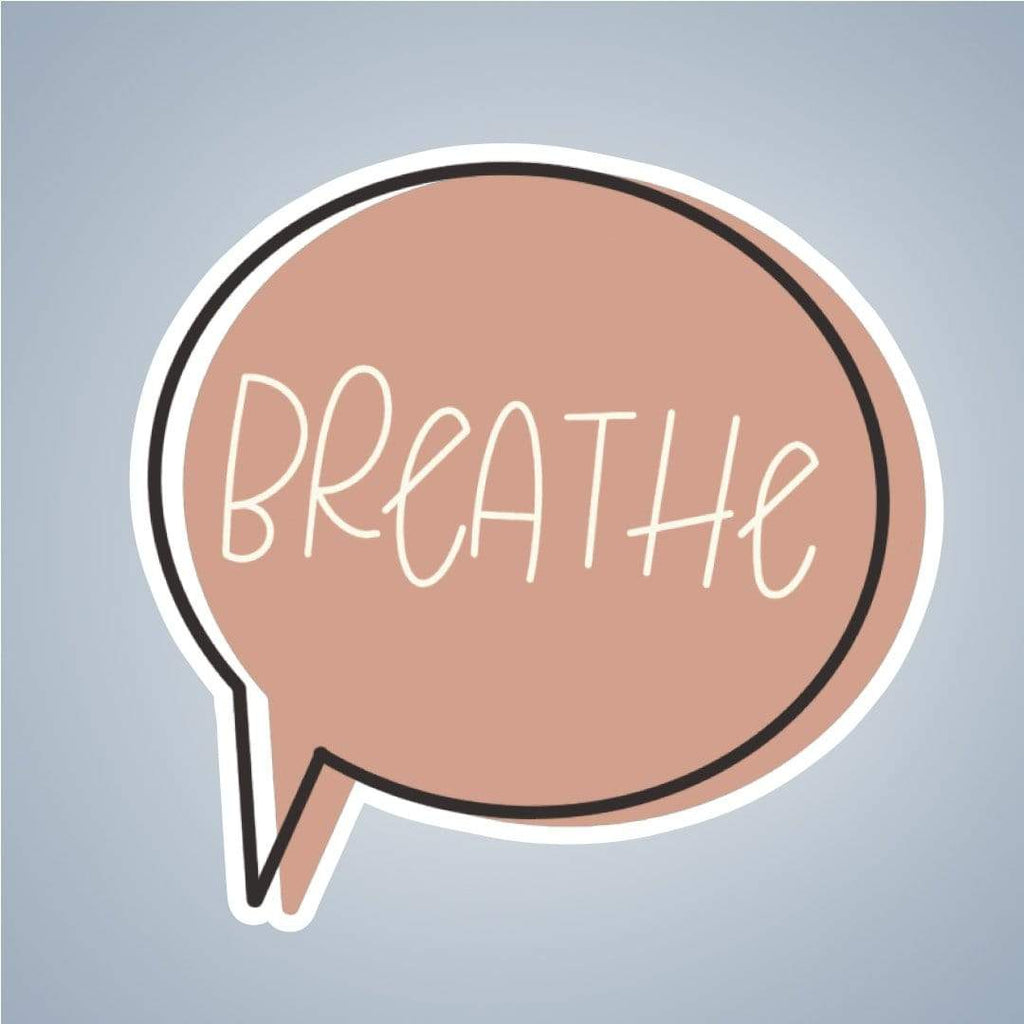 Summit View Designs Sticker Breathe Thought Bubble Sticker