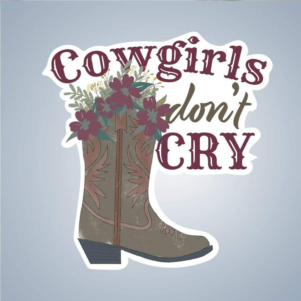 Summit View Designs Sticker Cowgirls Don't Cry Sticker