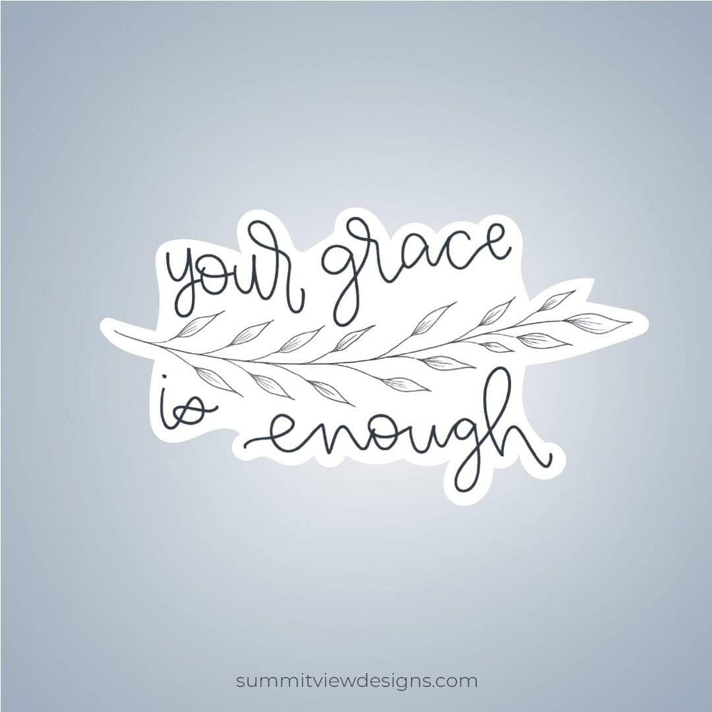 Summit View Designs Sticker Grace is Enough Inspirational Sticker