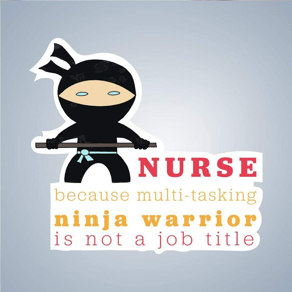 Summit View Designs Sticker Nurse Ninja Stickers for Teachers, Nurses, Moms & More!