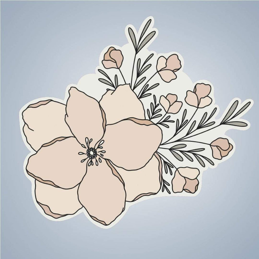 Summit View Designs Sticker Peachy Bouquet Sticker