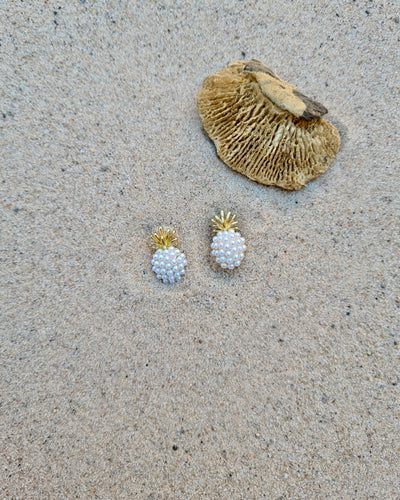 Sweet pearl pineapple earrings