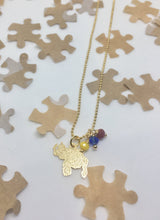 Load image into Gallery viewer, Venezuelan mini map necklace with crystals