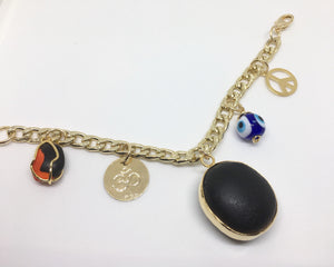 Kabbalah goldfilled bracelet with charms
