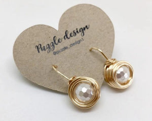 Tangled goldfilled pearl earrings