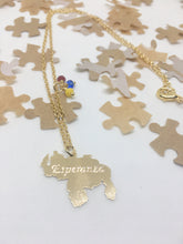 Load image into Gallery viewer, Venezuelan map necklace with mini crystals
