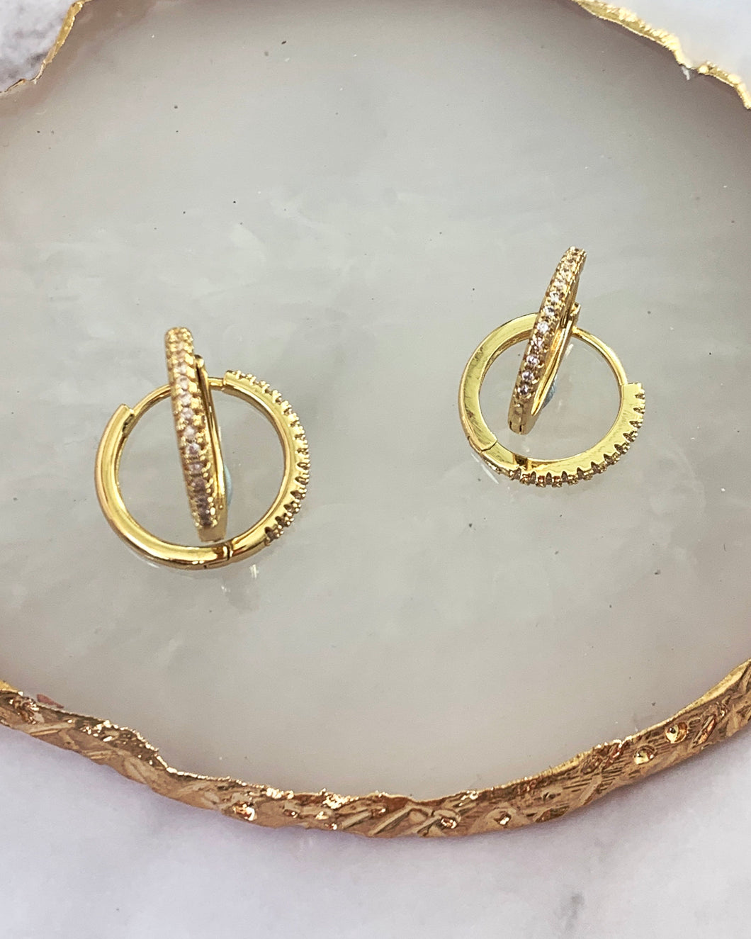 Simply gold hoops