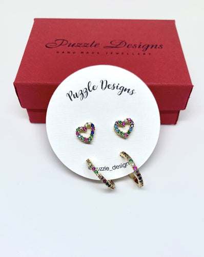 Marjorie heart earrings