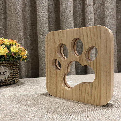 Dog Paw Wooden Lamp®️