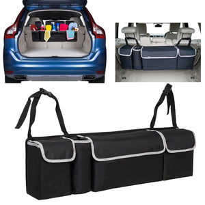 Auto Car Seat Back Multi Pocket Storage Organizer Tissue Holder Bag