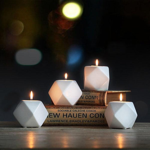 Elegant Modern Design Ceramic Candle Holder