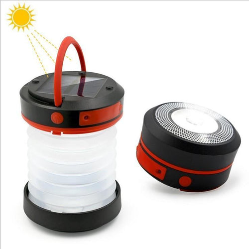 Foldable solar powered camping and smartphone charger