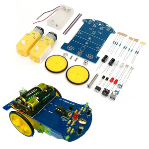 Smart Tracking Robot Car Electronic Kit With Reduction Motor Set