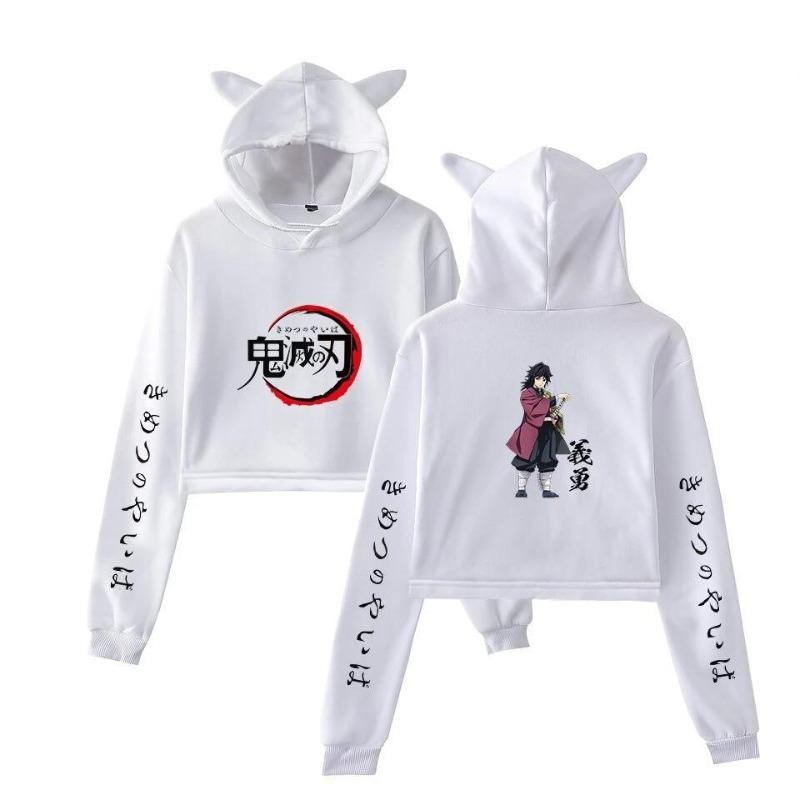 Demon Slayer Crop Top Hoodie </br> Giyu Tomioka