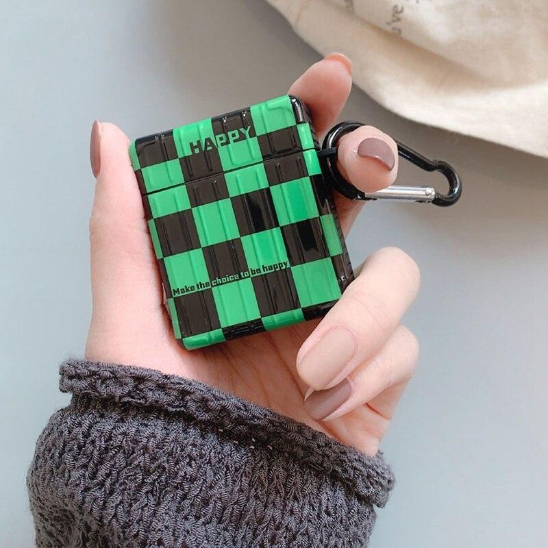 Tanjiro Checkered Pattern Airpod Case