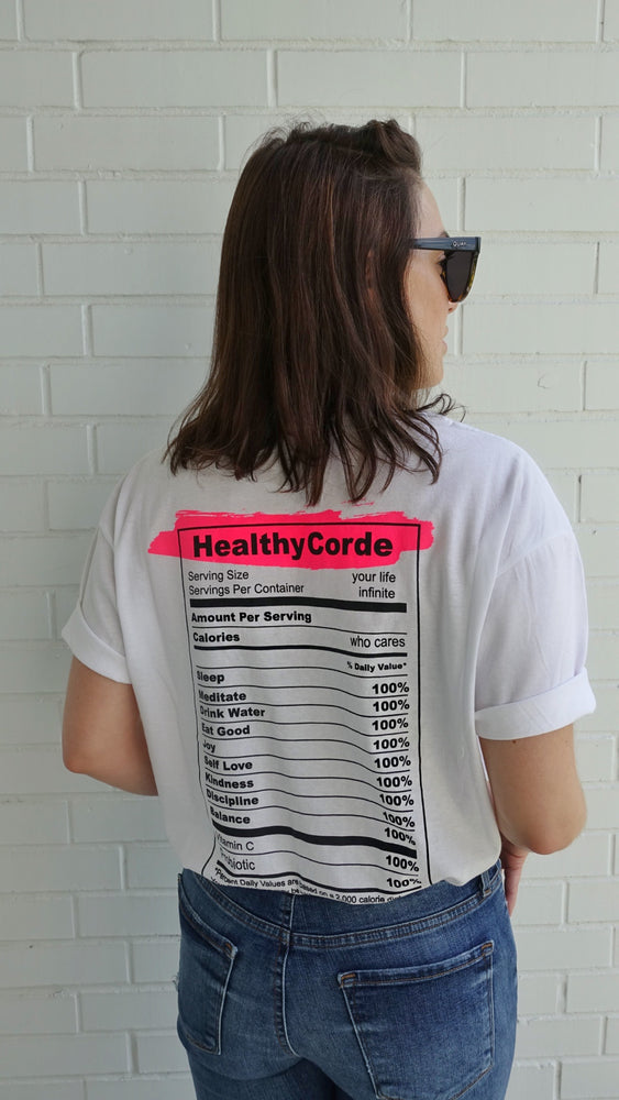 Camiseta Nutrition Facts - White