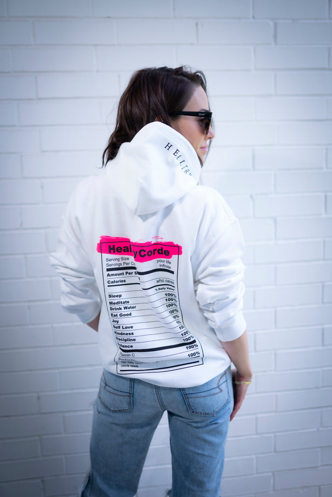 Sudadera Nutrition Facts - White
