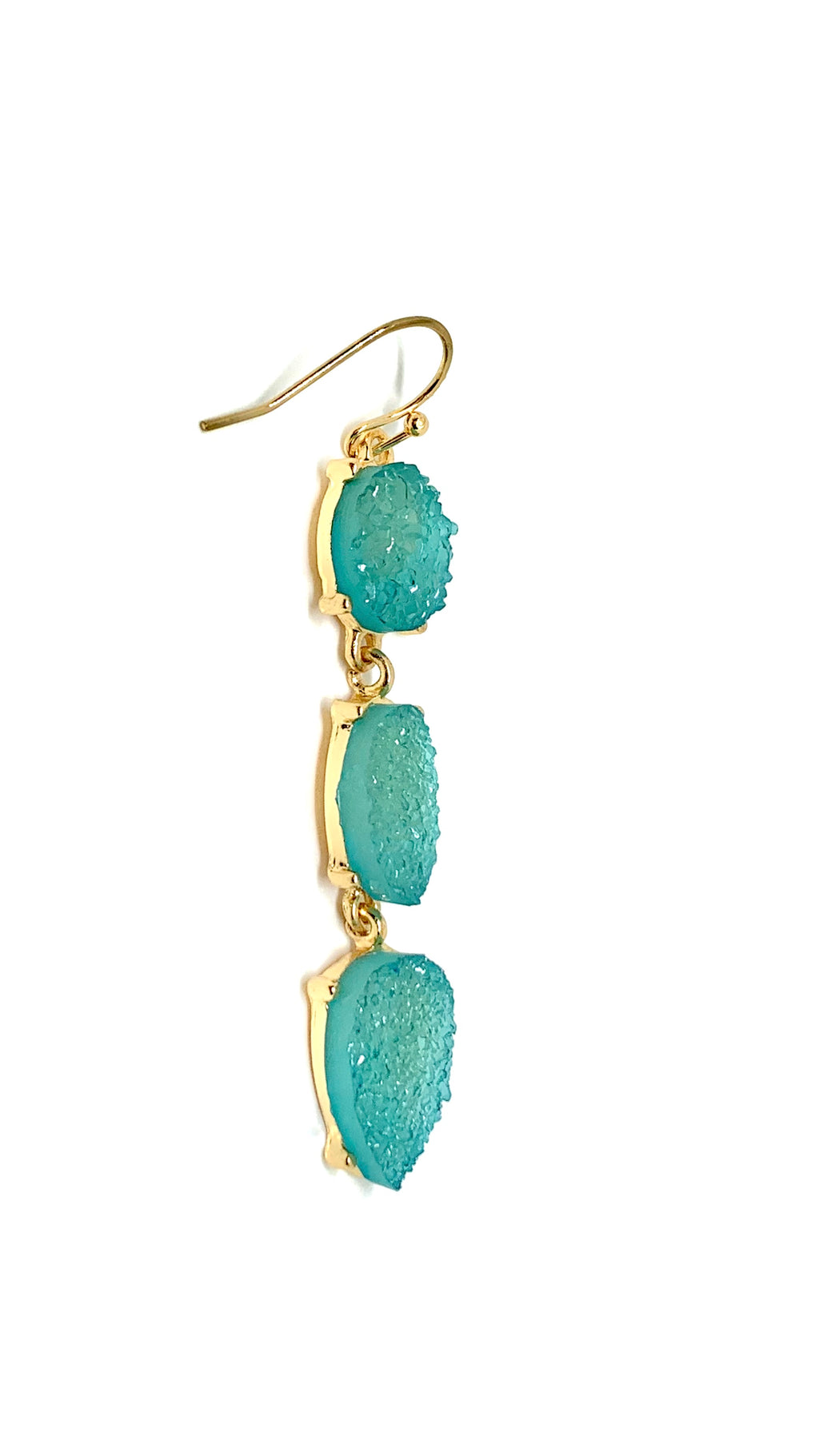 Aqua Stone Earrings