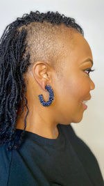 Hematite Hoop Earrings