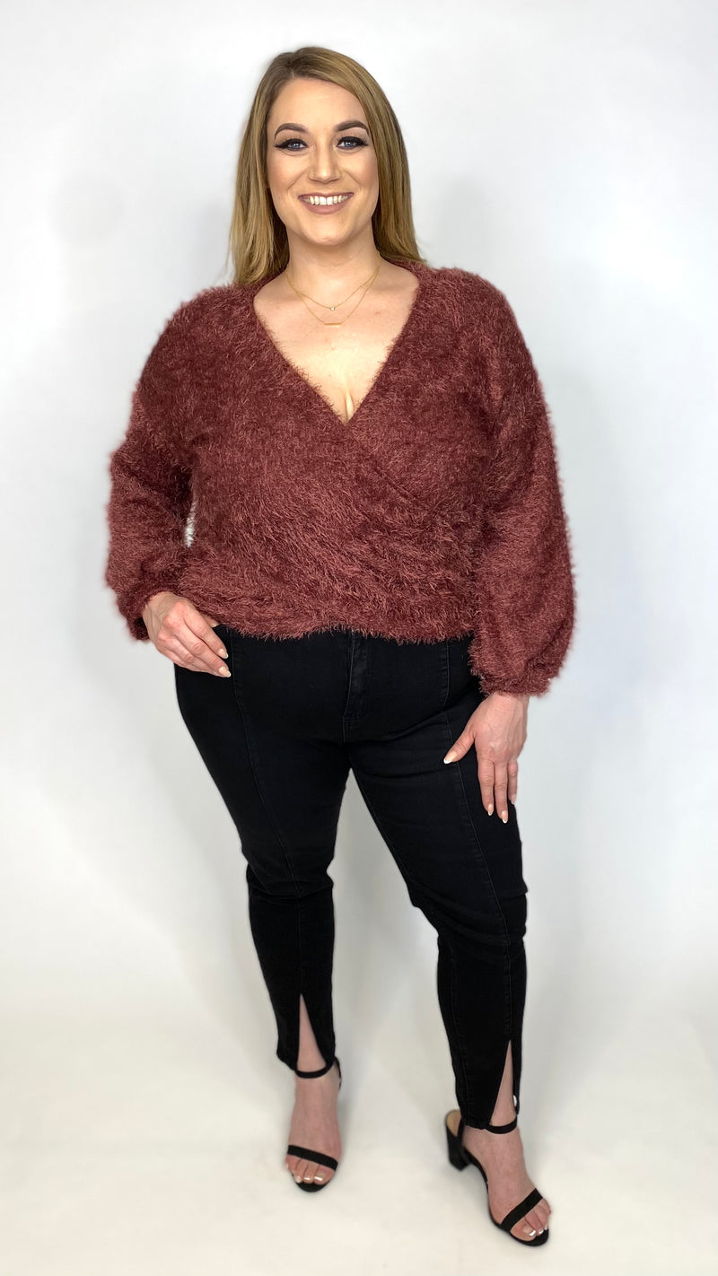 Faux Fur Wrap Top