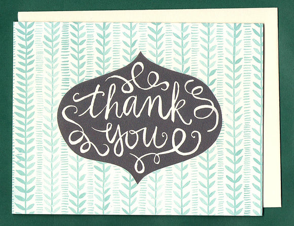 Pattern Thank You Card by 1canoe2
