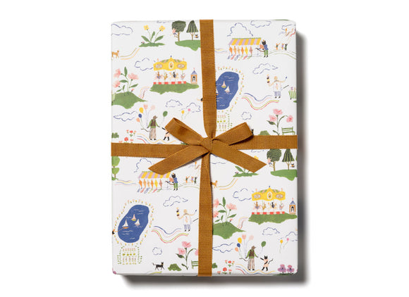 Amusement Park Wrapping Paper by Red Cap Cards
