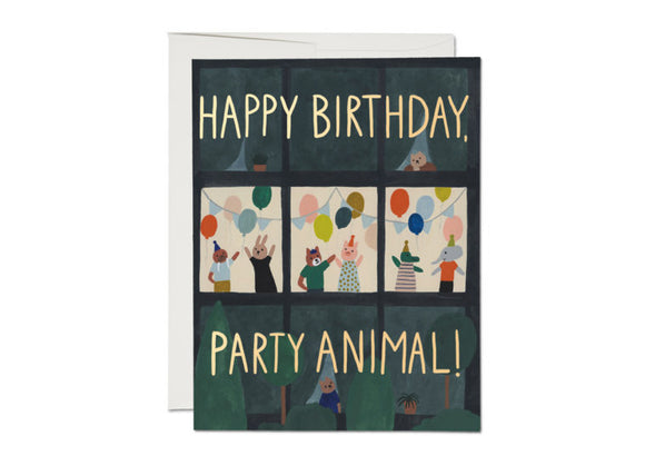 Animal House Birthday Greeting Card from Red Cap Cards