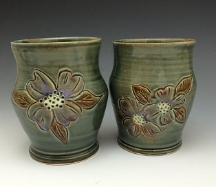 Blossom Tumbler by Bluegill Pottery