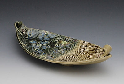 Blossom Boat by Bluegill Pottery