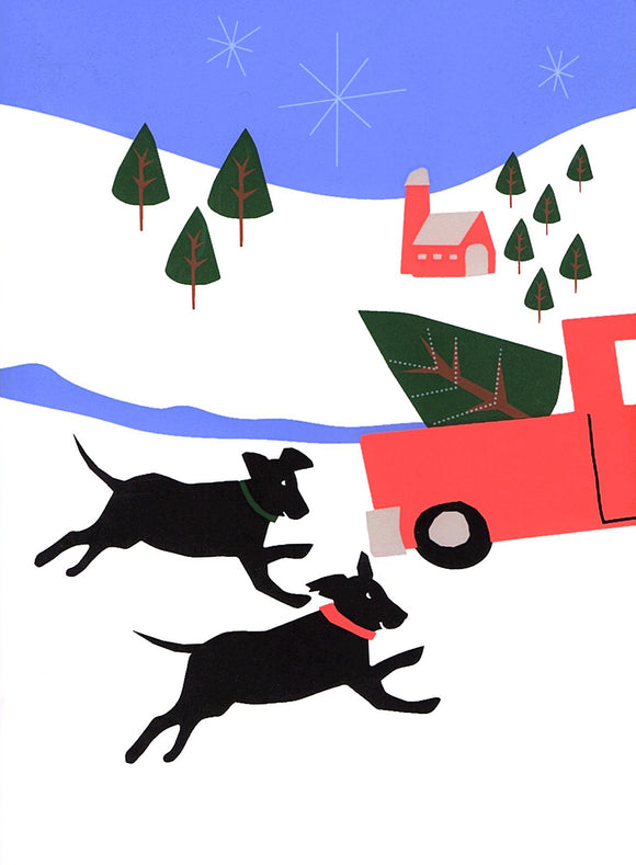 Christmas Dogs Greeting Card from Great Arrow Cards