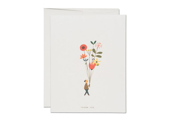 Long Stem Thank You Greeting Card from Red Cap Cards