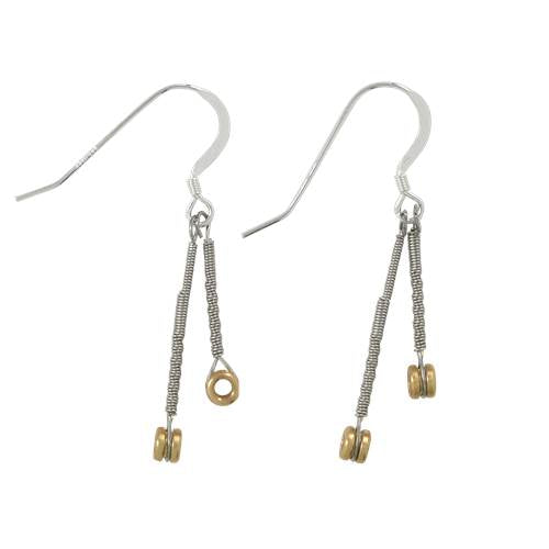 Ball End Drop Earrings by High Strung Studio