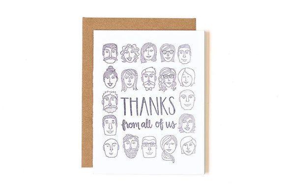 Thanks from All of Us Card by 1canoe2