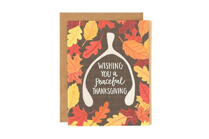 Wishbone Thanksgiving Card by 1canoe2