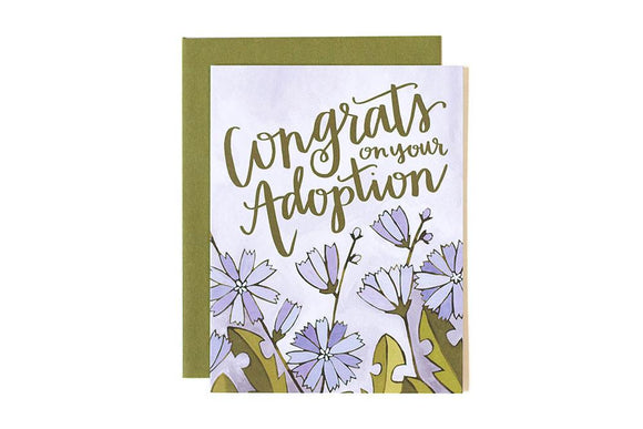 Congrats Adoption Floral Card by 1canoe2
