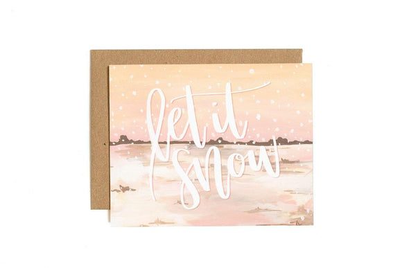 Let It Snow Card by 1canoe2