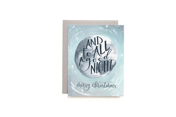 Christmas Moon Card by 1canoe2