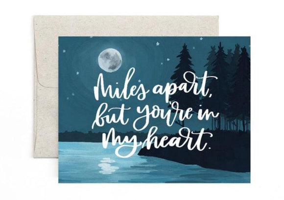 Miles Apart Moon Card by 1canoe2