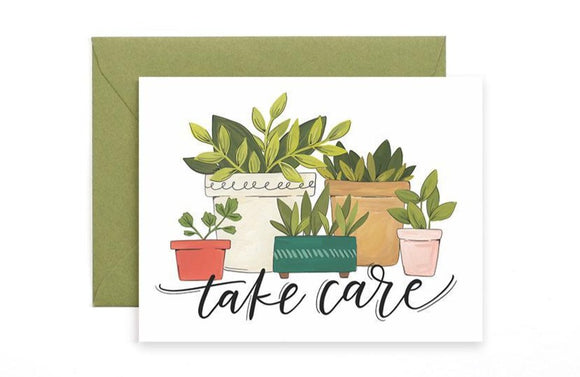 Take Care Plants Card by 1canoe2