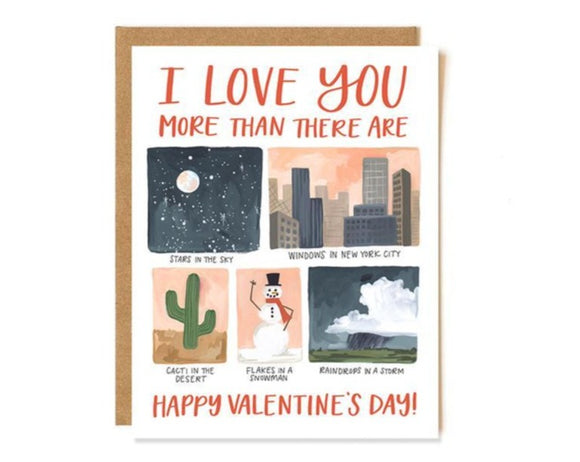 Love You More Card by 1canoe2