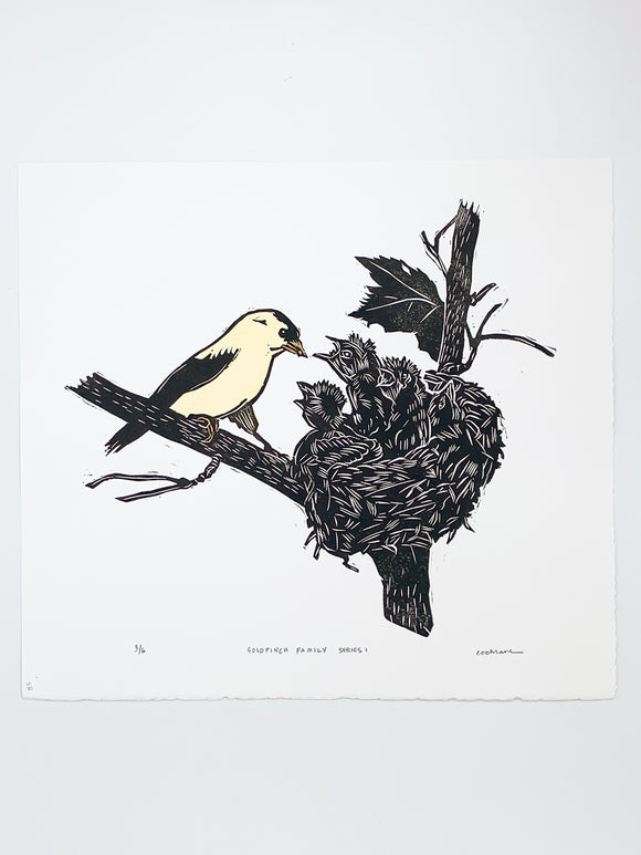 Goldfinch Family Series 1 print by Cary Cochrane