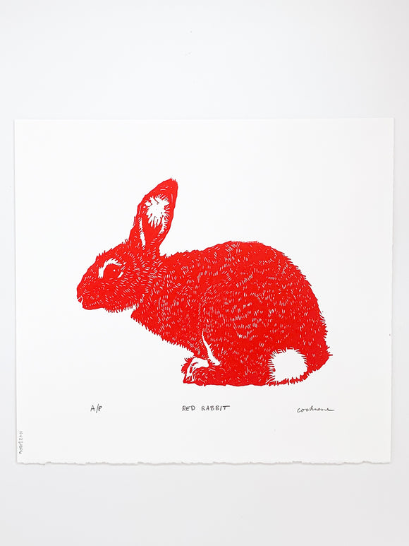 Red Rabbit print by Cary Cochrane