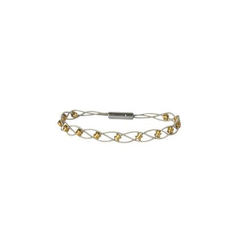 Two Tone Interlude Bracelet by High Strung Studio